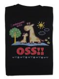 Tシャツ OSS!! きりん 黒