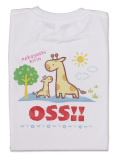 Tシャツ OSS!! きりん 白
