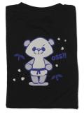 Tシャツ OSS!! るんるんパンダ 黒