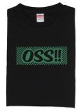 Tシャツ OSS!! 市松風 黒