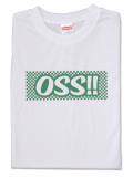 Tシャツ OSS!! 市松風 白