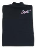 OSS!! ぷち動物 Tシャツ 長袖ストレッチアンダーウェア 黒