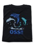 OSS!! ドルフィン Tシャツ 黒