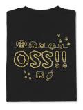 Tシャツ OSS!! わんわん 黒