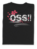 Tシャツ OSS!! 桜ワビサビ 黒