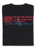 OSS!! ウェーブ メッシュロングスリーブTシャツ (黒)