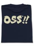 OSS!! 筆文字 Tシャツ 紺