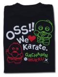 OSS!! ガチャピン&ムック2016 ドライメッシュTシャツ (ブラック)