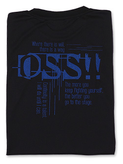 Tシャツ OSS サイバー 黒+青ラメ