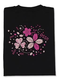 Tシャツ OSS!!サクラ咲く 黒