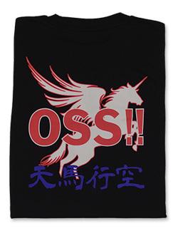 Tシャツ OSS!! ユニコーン 黒