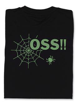 Tシャツ OSS!! くもの巣 黒