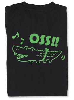 Tシャツ OSS!! ワニ 黒