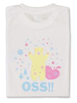 Tシャツ OSS!! しろくま 白