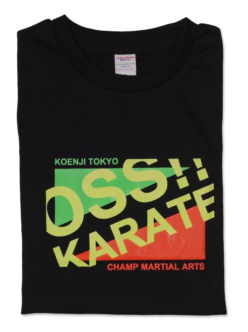 Tシャツ OSS!! おしゃれ風(蛍光) 黒