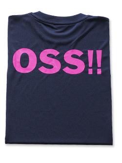 OSS!! クラシック Tシャツ 紺ピンク (ネイビー)