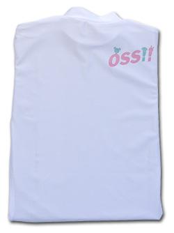 OSS!! ぷち動物 Tシャツ 長袖ストレッチアンダーウェア 白
