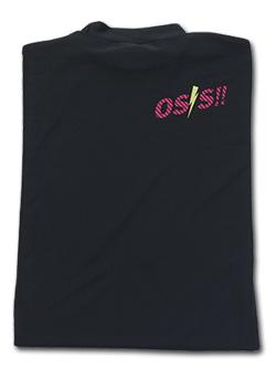 OSS!! ライジン Tシャツ 長袖ストレッチアンダーウェア 黒