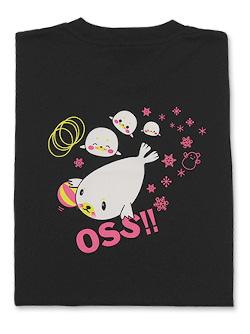 Tシャツ OSS!! アザラシ 黒