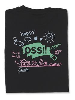Tシャツ OSS!! らくがき 黒