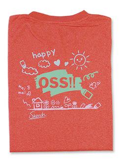 Tシャツ OSS!! らくがき ミックスレッド