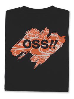 Tシャツ OSS!! 文様 黒