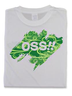 Tシャツ OSS!! 文様 白