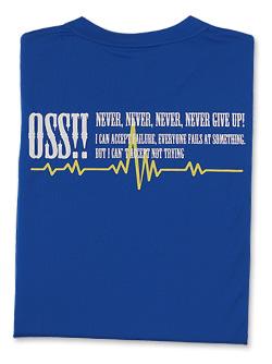 OSS!! ウェーブ メッシュロングスリーブTシャツ (青)