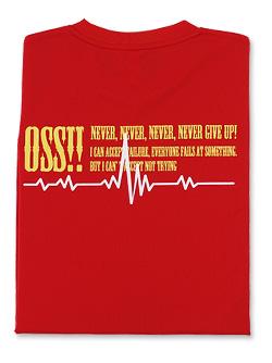 OSS!! ウェーブ メッシュロングスリーブTシャツ (赤)
