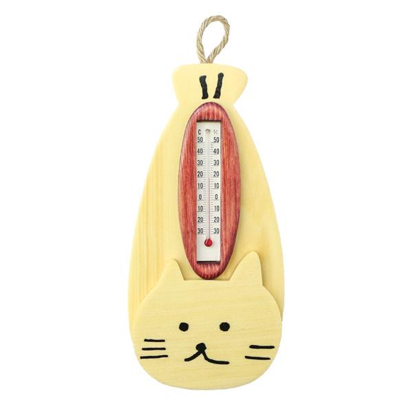 ししゃもねこ木製温度計
