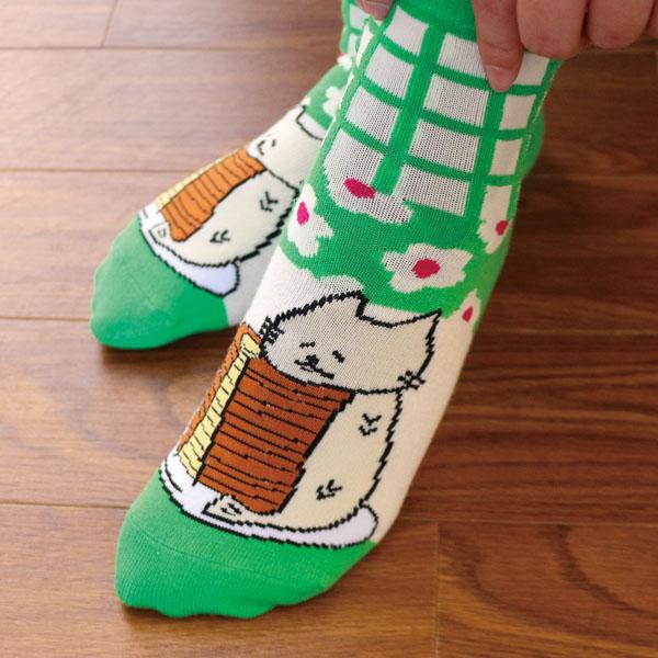 ししゃもねこ靴下