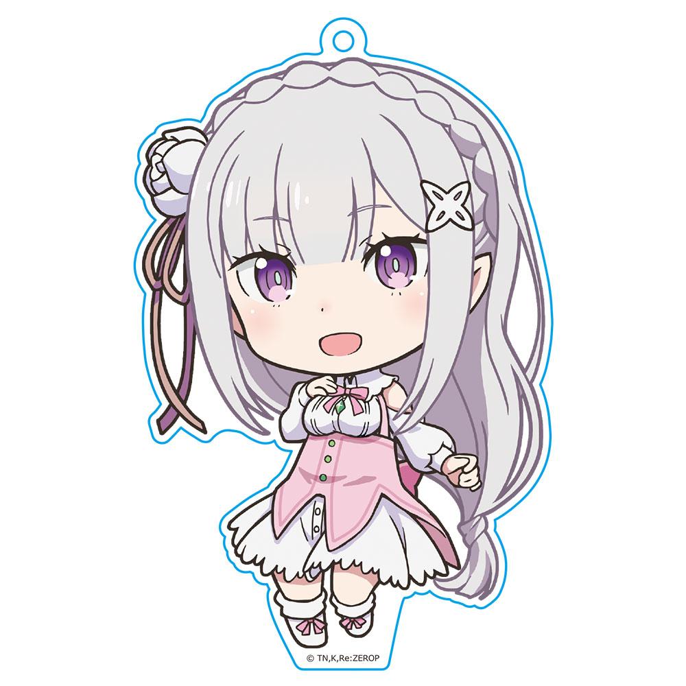 OVA Re:ゼロから始める異世界生活 Memory Snow ぷにこれ!キーホルダー(スタンド付) エミリア