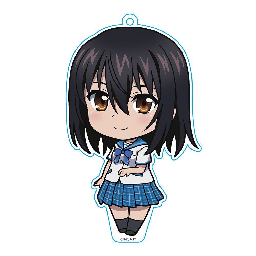 OVA ストライク・ザ・ブラッドIV(フォース) ぷにこれ!キーホルダー(スタンド付) 姫柊雪菜