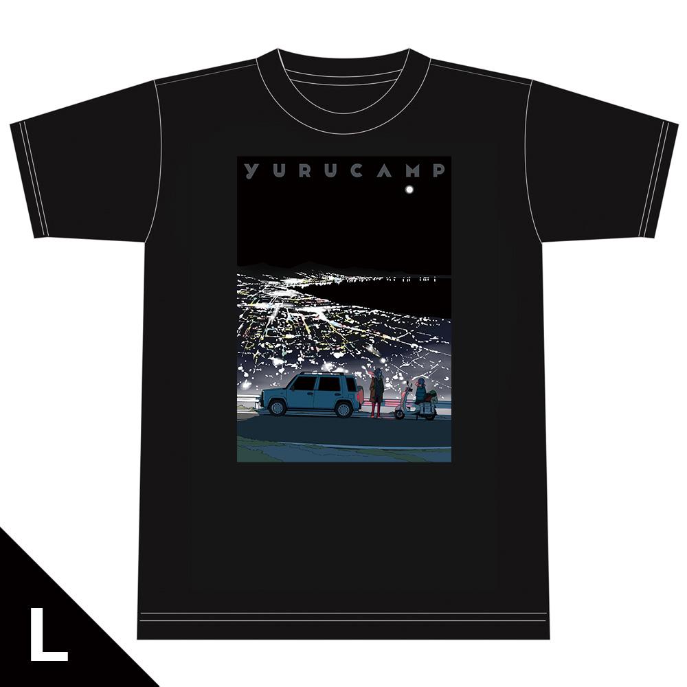 ゆるキャン△ TシャツE[リン&桜] Lサイズ