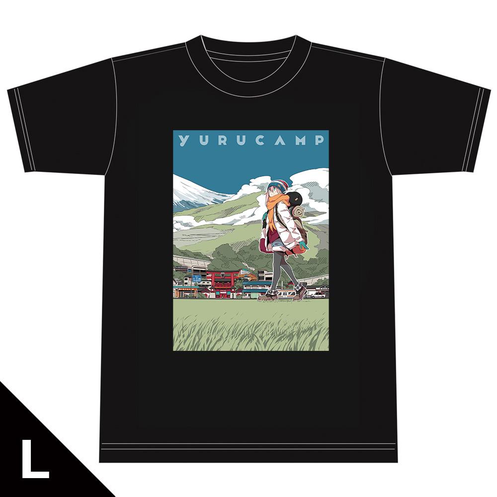 ゆるキャン△ TシャツB[各務原なでしこ] Lサイズ