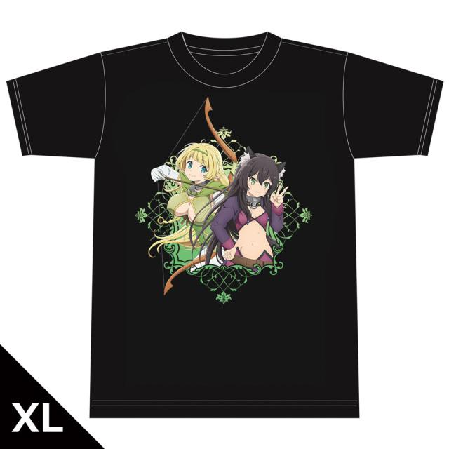 異世界魔王と召喚少女の奴隷魔術Ω Tシャツ[シェラ&レム] XLサイズ