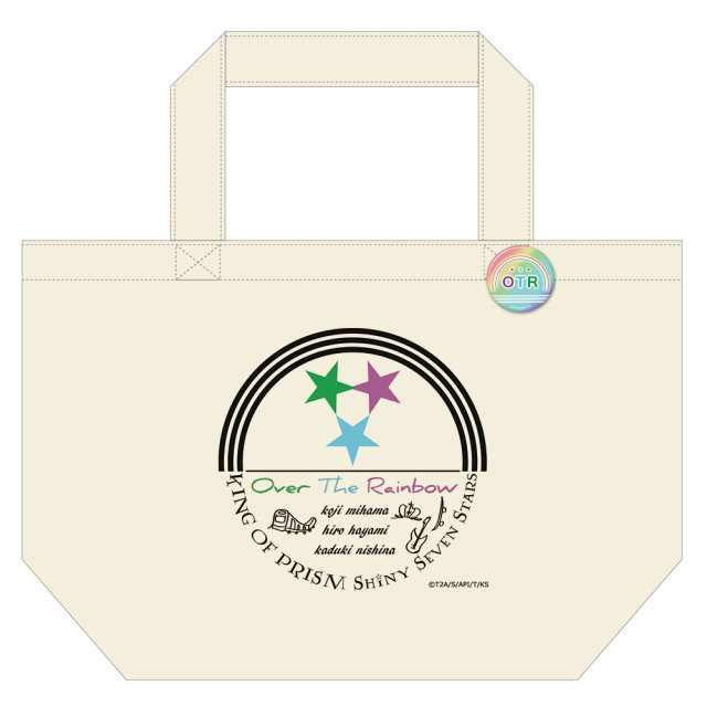 KING OF PRISM -Shiny Seven Stars- 缶バッジ付トートバッグC [Over The Rainbow]