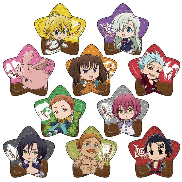 七つの大罪 神々の逆鱗 レザーバッジコレクション(BOX)