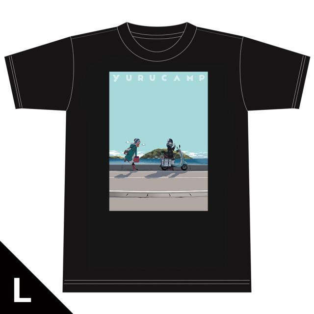 ゆるキャン△ Tシャツ[なでしこ&リン] Lサイズ