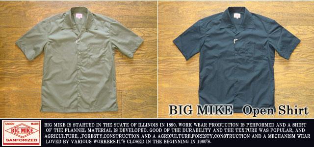 [BIG MIKE]ビッグマイク-オープンカラーシャツ