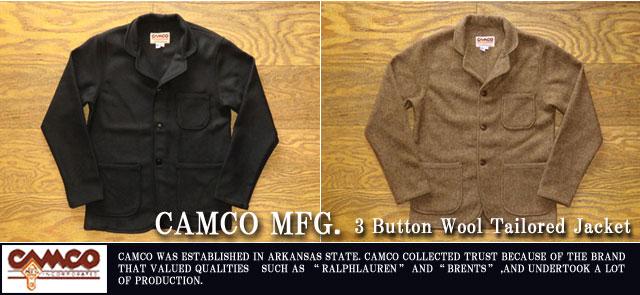 カムコ-3ボタンウールテーラードジャケット