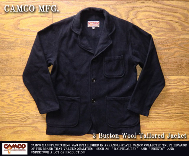 [CAMCO]カムコ-3ボタンウールテーラードジャケット
