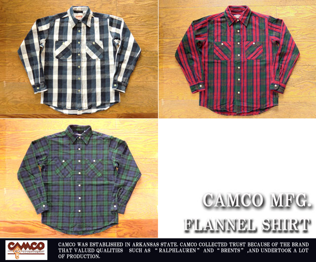 [CAMCO]カムコ-フランネルシャツ2017