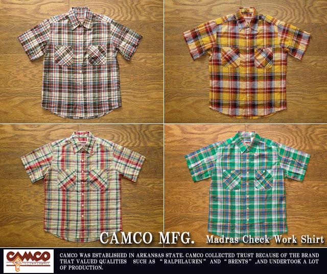 カムコ-マドラスチェックワークシャツ
