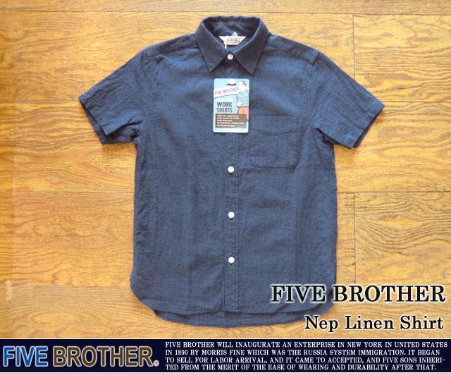 [FIVE BROTHER]ファイブブラザー-ネップリネンシャツ