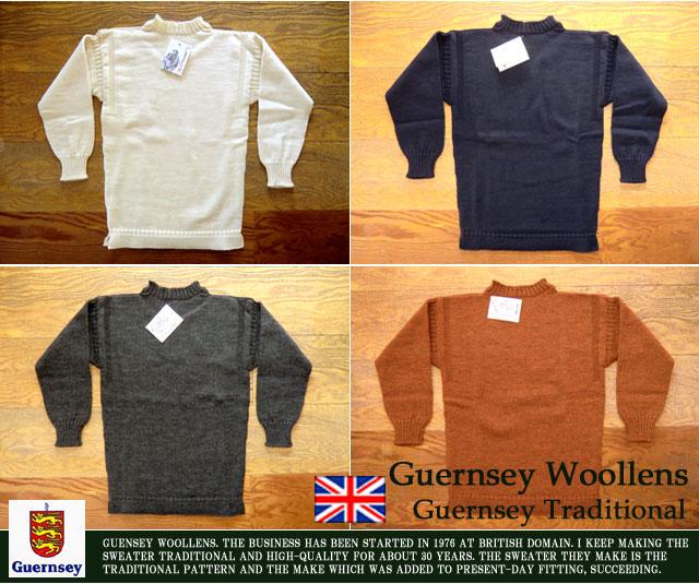 [Guernsey Woollens]ガンジーウーレンズ-トラディショナルセーター