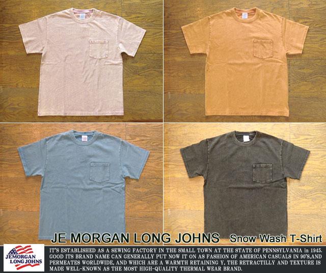 [JE MORGAN LONG JOHN]ジェーイーモーガン-スノーウオッシュポケットTシャツ