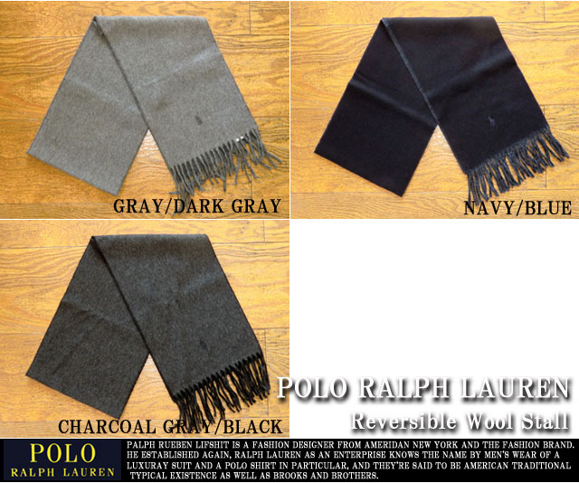 [Polo Ralph Lauren]ポロラルフローレン-リバーシブルウールストール