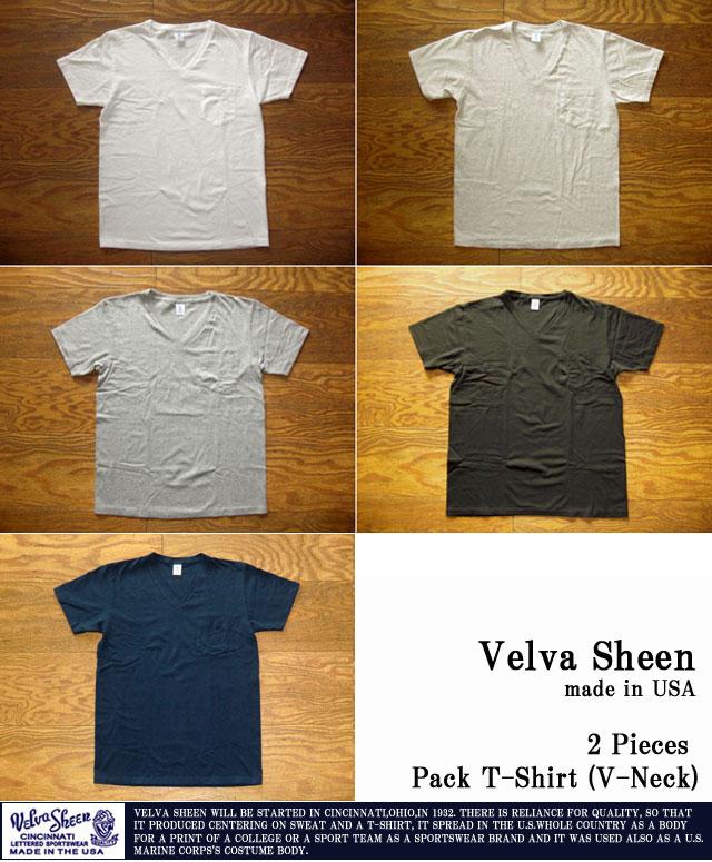ベルバシーン-2PポケットTシャツ(Vネック)