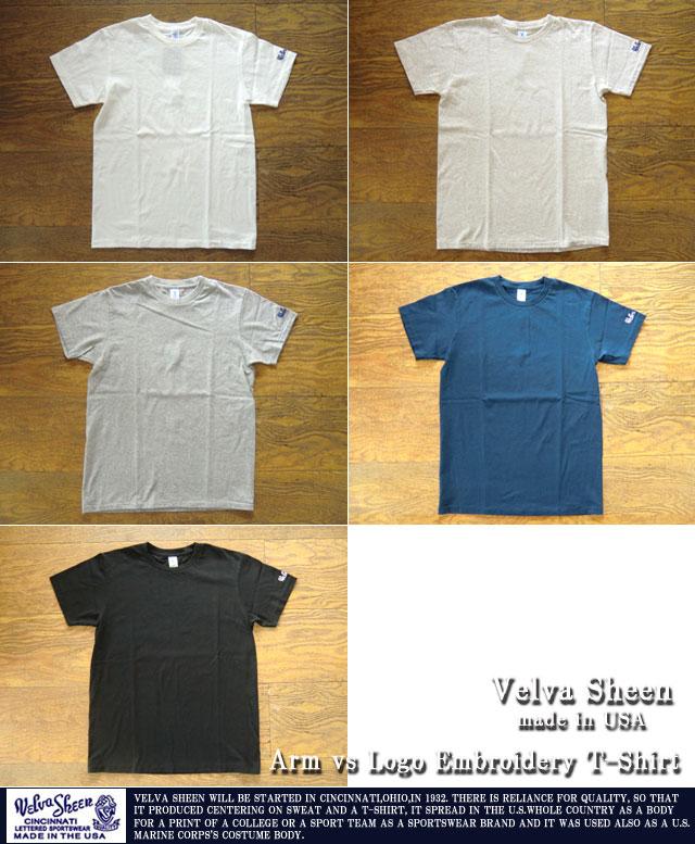 [VelvaSheen]ベルバシーン-ロゴ刺繍Tシャツ